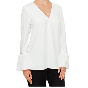 Ted Baker Journe Fluted/Bell Sleeve Top